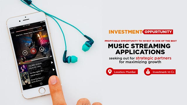 Startup Music App business looking for investors for the business expansion